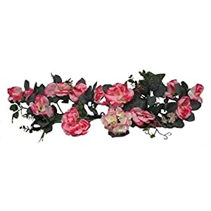 Pink Swag Roses Hydrangea Silk Wedding Flowers Arch Gazebo Table Centerpieces Artificial OSW01