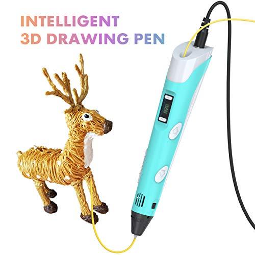 Tintec 3D Stift, 3D Druckstift 3D Stift Set 3D Pen mit LED-Bildschirm 1.75mm PLA/ABS Filament für Kinder und Erwachsene, Zeichnung und Kunstwerke - 5