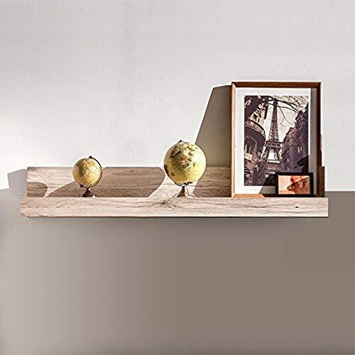 trendteam Wohnzimmer Wandregal Bücherleiste Bücherregal Passat, 115 x 18 x 23 cm in Eiche San Remo Sand Dekor mit Ablagefläche