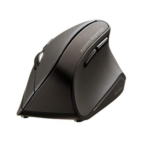サンワサプライ 静音Bluetoothエルゴノミクスマウス 腱鞘炎防止 ブルーLED 5ボタン 大型 MA-ERGBT11N