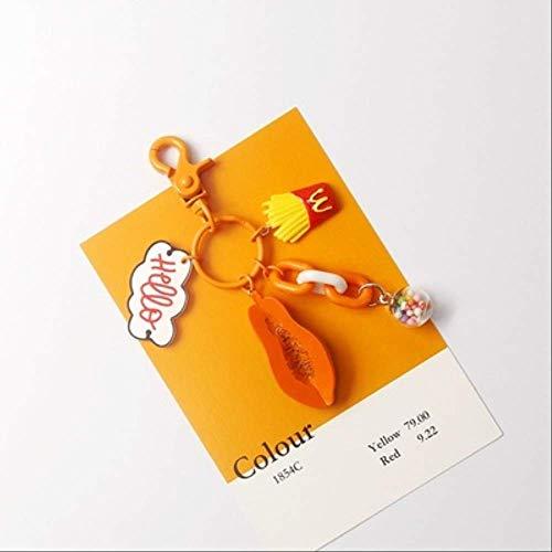 XVBTR Cartoon Avocado Durian Früchte Schlüsselbund Frauen Mädchen Tasche Ornamente Lutscher Kekse Anhänger Schlüsselanhänger Kinder Spielzeug Schlüsselanhänger SchmuckGrün