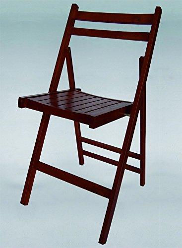 Kit Closet Chaise Pliante en Bois Couleur Wengé