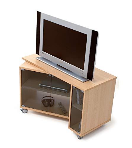 Miroytengo Mueble TV con ruegas modulo Giratorio Mesa para televisor Salon Comedor 51x108x66 cm