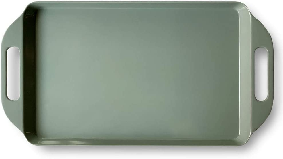 Bowla Melamine Sales of SALE items from new works Rectangular Inexpensive Serving Green Handles with Tray