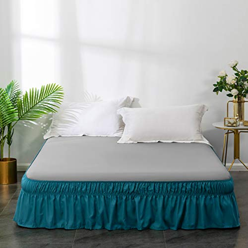 AYASW Bed Skirt 14 Inch Drop Dust Ruffle Three Fabric Sides...