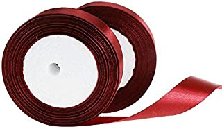 CaPiSo/® Ruban Organza 25 m de Largeur 5 cm de Largeur 50 mm avec Bordure tiss/ée Bordeaux