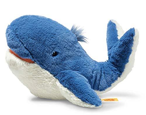Steiff Soft Cuddly Friends Tory Blauwal-28 cm-Kuscheltier für Kinder-weich & kuschelig-waschbar-blau (063831)