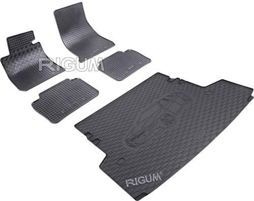 900248-134B-803181 - Kit de alfombrillas y protector de maletero de goma color negro