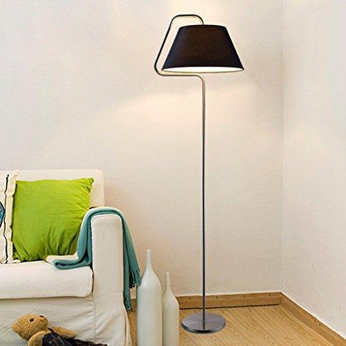 XIN Home staande lamp, staande leeslamp woonkamer slaapkamer studie kantoor eenvoudige moderne creatieve zwarte oogbescherming verticale tafellamp