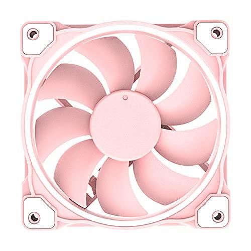 #N/A/a Ventilador de Caja PWM Ventilador de Caja 5V 3 Pin Placa Base Sincronización de Computadora Enfriamiento de Caja - Rosado