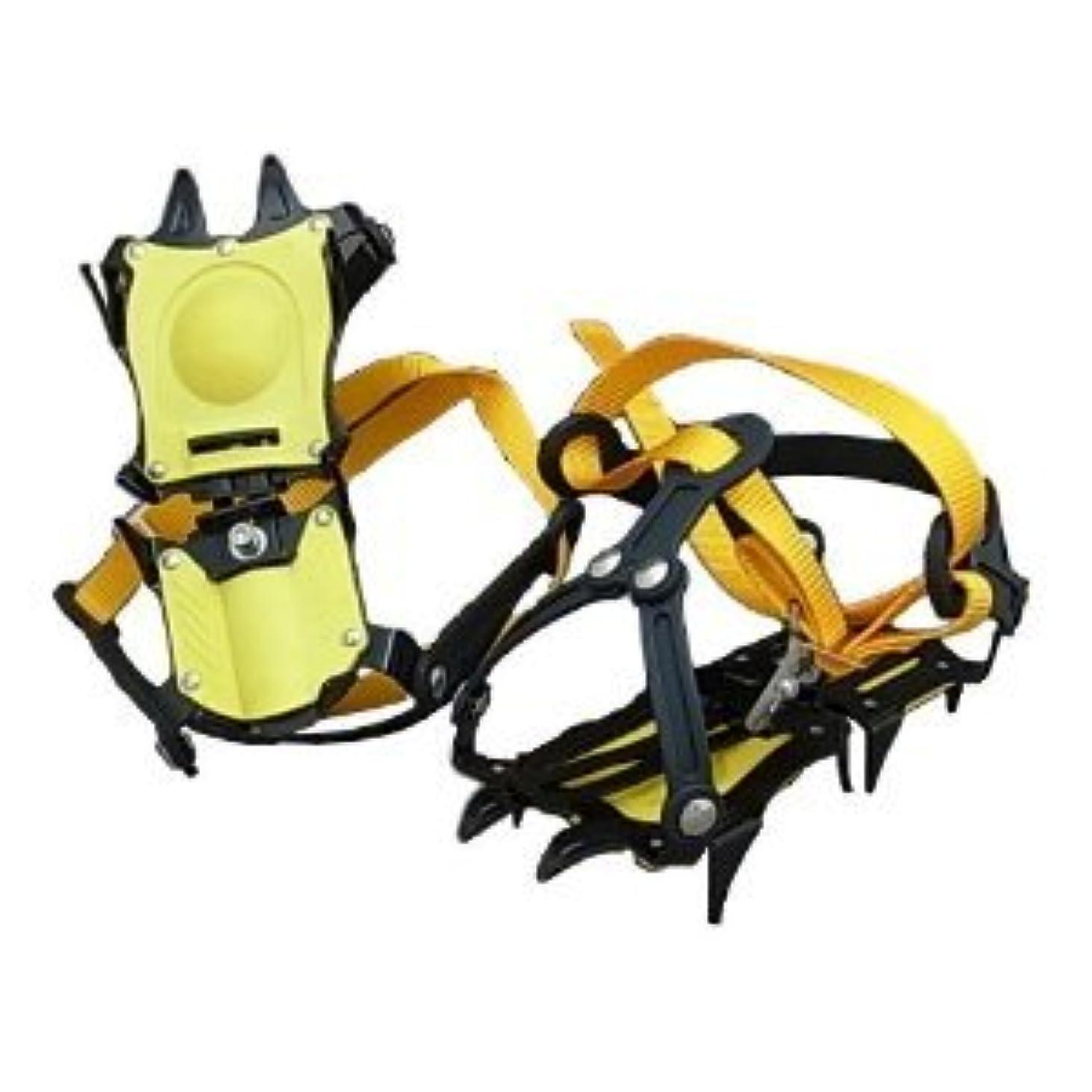 百年永遠のバッフル超軽っ!雪山登山 トレッキング 10本爪 アイゼン 専用ケース付き