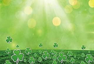 Baocicco 7x5ft Vinyl Happy St.Patrick's Day Backdrop Lucky Shamrock Clover Photography Background Green Shamrock Lucky Grass Field Spring Holiday Backdrop Children Kids Adults Portraits Photo Studio