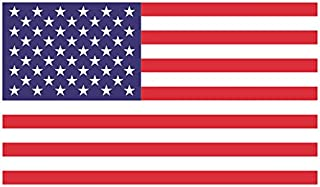 """Freedom Products American Flag Bumper Sticker (3"""" x 5"""") Small, Weather-Resistant Decal for Cars, Trucks, RVs 