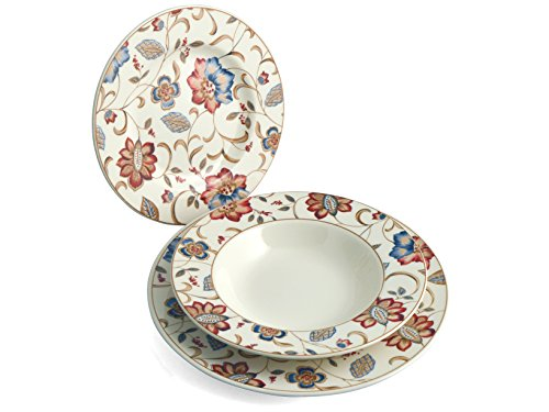 Churchill China Ambience - Vajilla de 18 Piezas jacobean Churchill