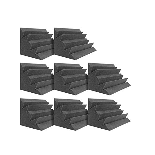 DEKIRU Acoustic Panels Bass Traps Corner Studio Foam, 8 Pack 12