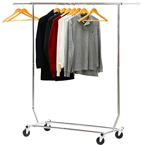 Simple Houseware Supreme Commercial Grade Clothing Garment Rack Chrome