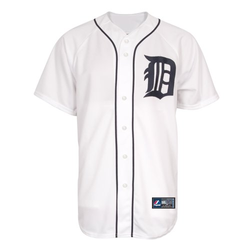 MLB Detroit Tigers Home Replica Jersey, Weiß M weiß