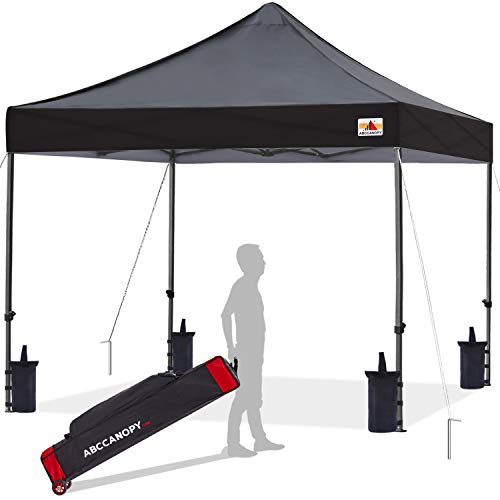 ABCCANOPY Patio Pop Up Canopy Tent 10x10 Commercial-Series (Black)