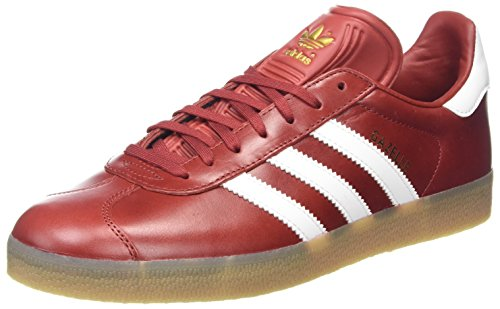 adidas Gazelle, Scarpe da Fitness Uomo, Vari Colori, Rosso/Bianco/Oro Metallizzato (Rojmis Ftwbla Dormet), 36 EU