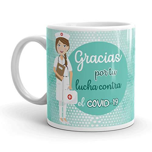 Kembilove. Tazas Desayuno Originales para Enfermera – Taza de café de Agradecimiento para Enfermeras Que lucharon en Ayudar a la Gente – Regalos Originales de Enfermeras