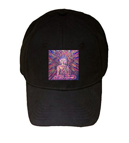 Buddha Trippy Mural Yuya Negishi YUYART - Printed Black Adjustable Cap Hat