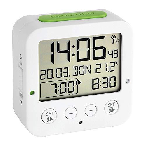 TFA 60.2528.01–Réveil numérique Blanc