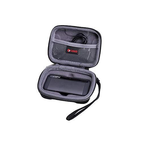 XANAD Duro Viaggio Trasportare Custodia per Crucial 1 TB 500GB X8 Portable SSD - Protettivo Caso Borsa Scatola
