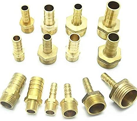 Threaded fittings Brass Pipe Connectors Brass Pipe Fitting 4mm 6mm 8mm 10mm 12mm Hose Barb Tail 1//8 1//4 1//2 3//8 BSP Male Connector Joint Copper Coupler Adapter Threaded pipe joint Quick Connector