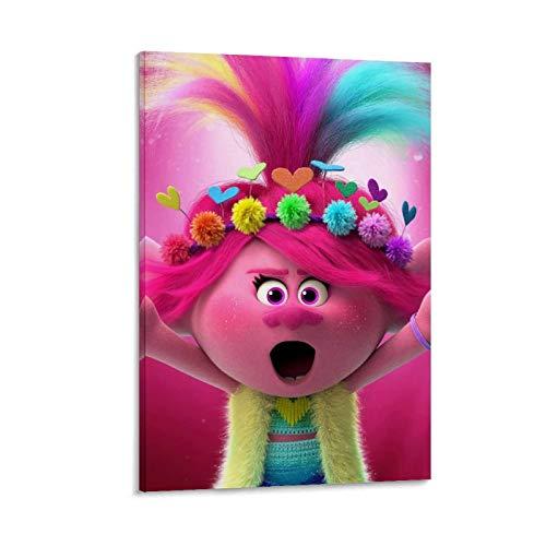 Poppy Trolls - Lienzo decorativo para pared (40 x 60 cm)