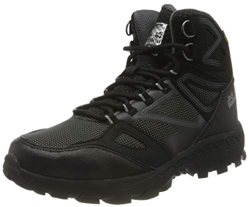 Jack Wolfskin Damen Downhill Texapore MID W Outdoorschuhe, Black/Grey, 40.5 EU