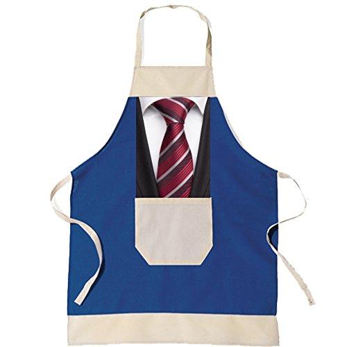 SHIRT-TO-GO BBQ Grillschürze & Küchenschürze in blau Business Geschäftsmann Krawatte als Geschenkidee