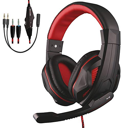 Over-Ear Stereo Gaming Headphone, Megadream 3.5mm Gaming Headset Noise Cancelling with Microphone for Xbox One/Xbox one S PS4 / PS4 Pro / PS4 Slim PC Notebook Mac Laptop Tablet Phones Electronics Features Headphones Over-Ear