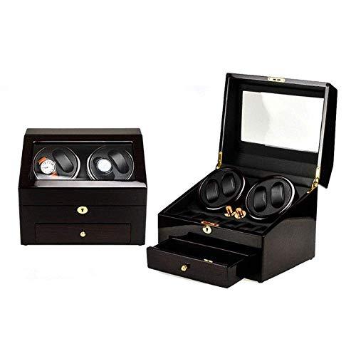 CLJ-LJ Automatische mechanische schwarz Uhrenbeweger High Class Motor Shaker Uhrhalter Display Schmuck-Uhr-Box, Weiss (Color : White)