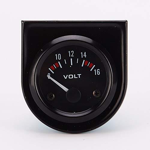 JF-XUAN Voltímetro Calibre 52 mm de Calibre 8~16V LED Blanco Coche TR voltios voltímetro Calibre 52mm Metro del Coche for el Coche del Carro del Barco Pieza del vehículo