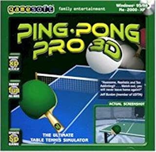 BRAND NEW Gamesoft Ping Pong Pro 3D Graphics Table Tennis OS Windows 95 98 Me 2000 Xp Multiplayer