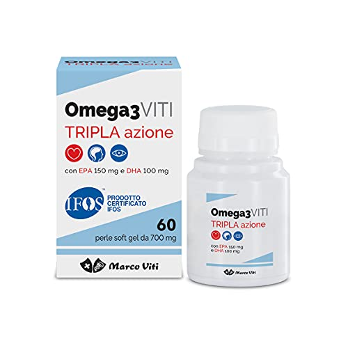 Marco Viti Omega3 Viti Tripla Azione Perle- 150 Mg. Epa E 150 Mg. Dha Per Perla