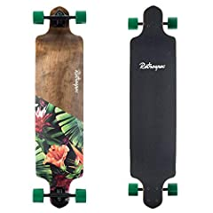41-Inch artisan drop-style performance longboard made from sustainably sourced Canadian Maple. Reactive and smooth gliding Slant reverse 180mm kingpin trucks with precision ABEC-7 stainless steel bearings for less exertion and a longer roll. We desig...