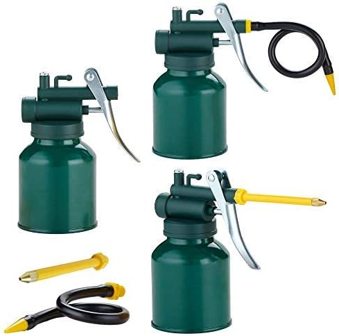 Hexin Metal shopping Oil Can Green Pistol Max 58% OFF 2 Pump Sp with Oiler