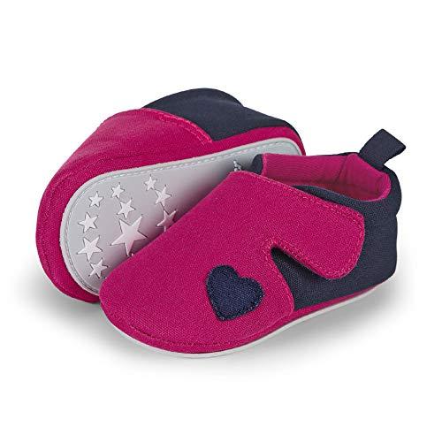 Sterntaler Baby Mädchen Krabbelschuh Slipper, Pink (Magenta 2301950), 19/20 EU