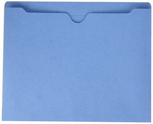 Sparco File Jacket, Letter, 11 Point, 2-Inch Expansion, 400 Capacity, 50 per Box, Blue (SPR26562)