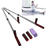 OTEKSPORT 3 Bar Leg Stretcher Heavy Duty Gymnastic Portable Flexibility Stretching Machine Stretch Strength Training Leg Machines Yoga Exercise Gym