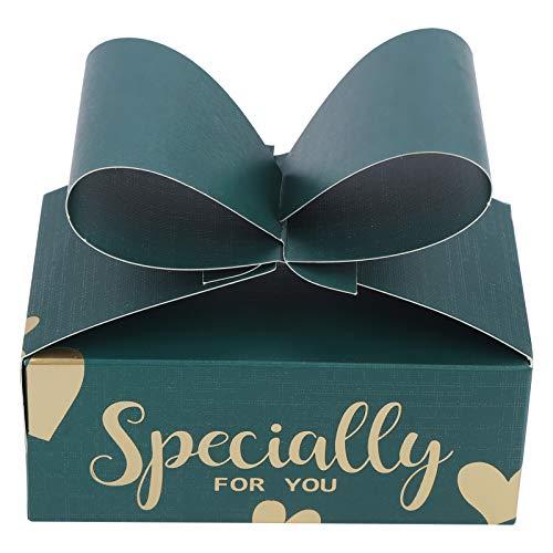SZHWLKJ 30 Unids Green Bowknot Caramelo Cajas De Regalo Cajas para Regalos para Galletas Fiesta Navidad Cumpleaños Bodas Suministros