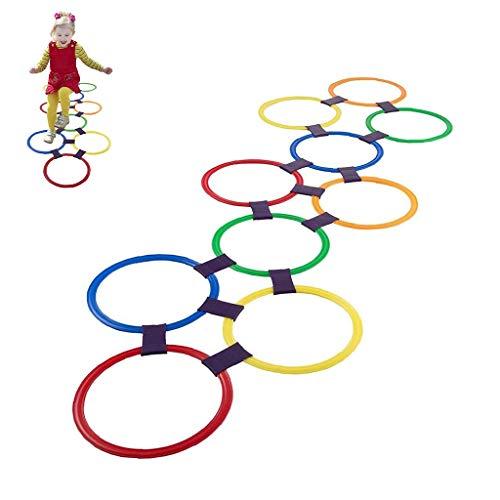 Hinkelspelspelspeelgoed 10 Veelkleurige Plastic Ringen Werpringen Snelheid En Behendigheidstraining Games Zitzak Gebruiksplezier Creatieve Speelset En 9 Connectoren Voor Binnen Voor Meisjes Jongens