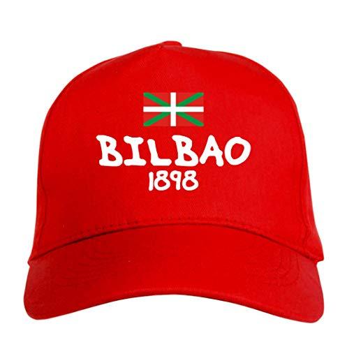 Gorra bordada Bilbao roja – Deportivo Ultras, de...