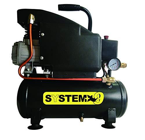 Compressore d'aria lubrificato ad olio da 6 Litri 1.100 Watt 8 bar SYSTEM+