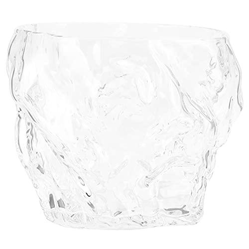Copas de vino, innovador vidrio transparente de 50 ml con forma única, sin tallo, para barra para fiestas