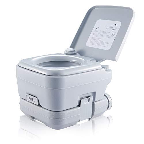 VONOYA Toilette da Campeggio 10L WC Portatile con Serbatoio Rimovibile WC Chimico da Viaggio per Camper, Furgoni, Barche