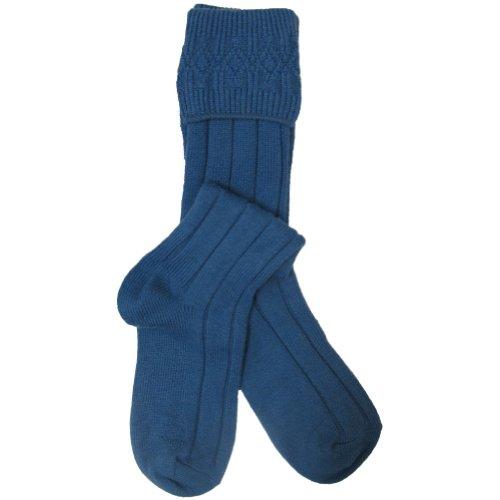 W. Brewin - Chaussettes hautes de kilt - homme - bleu - 43-47