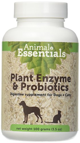 Animal Essentials Plant Enzyme & Probiotics Supplement for Dogs and Cats -...