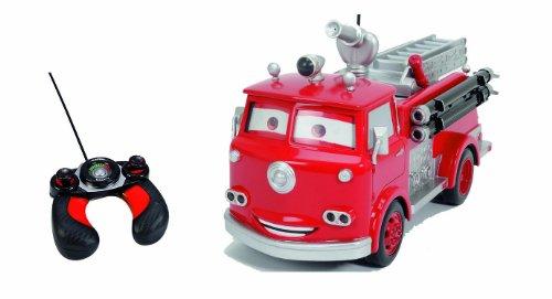 Majorette - 213089549 - Cars - Red Fire - Camion Pompier RadioCommandé - Rouge - MultiFonctions - 29 cm